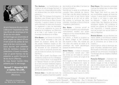 Invitation pour les 30 ans de l'atelier à Rennes en 2018